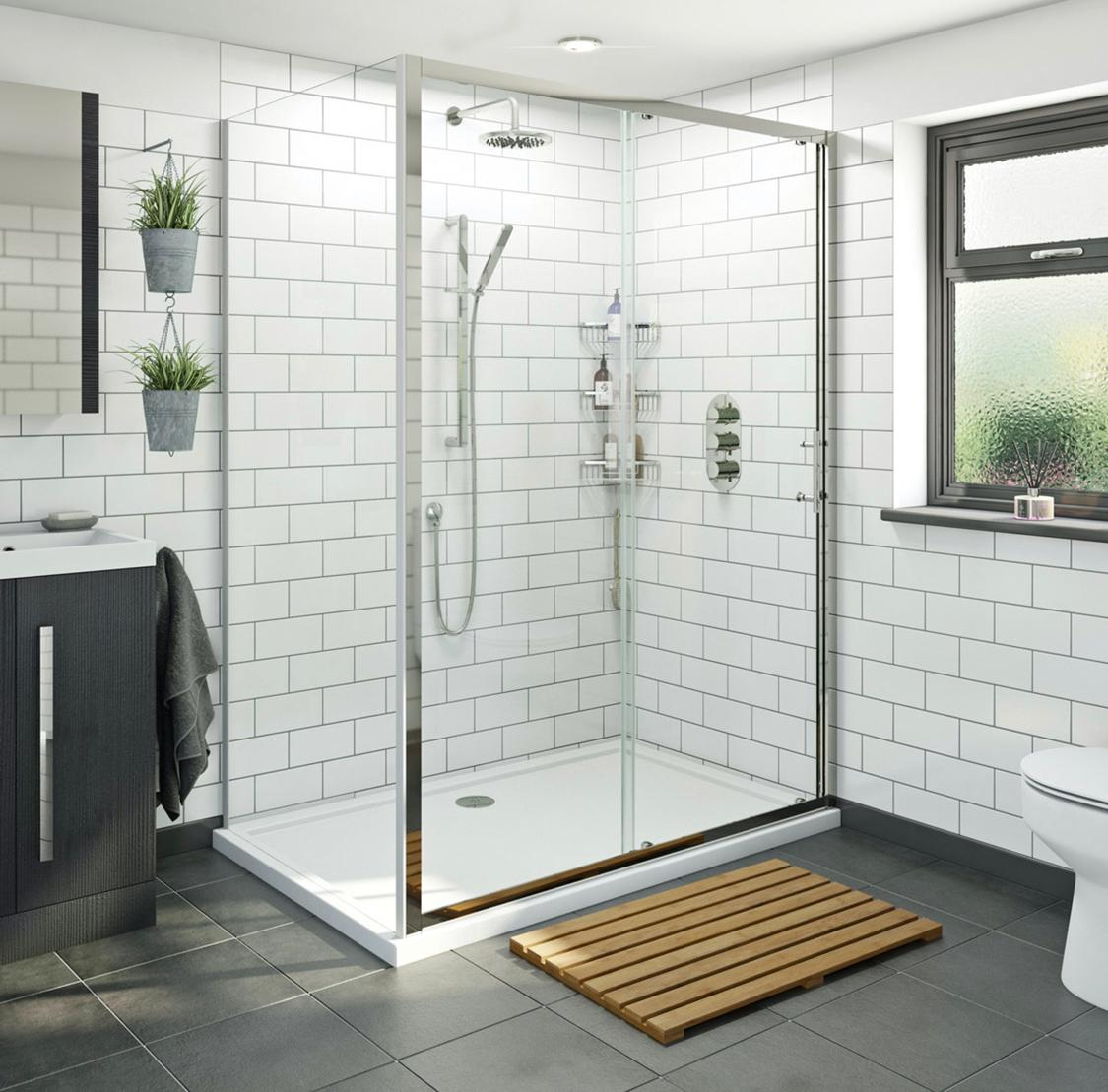 Double width shower cubicle