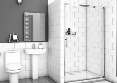 Fitted shower washbasin toilet