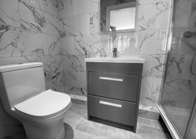 Shower vanity unit and wc good use of limited space